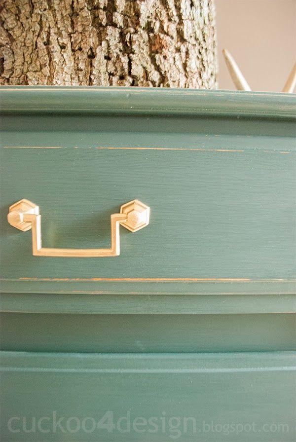 Green Traditional Dresser Makeover - Cuckoo4Design