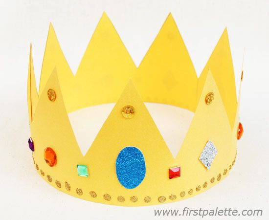 Gold paper crown | 2nd grade | Pinterest | Paper crowns ...
