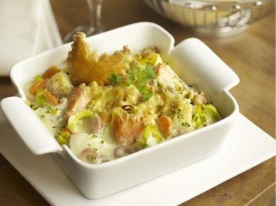 Vispannetje met zalm en kabeljauw in de oven (Libelle Lekker!)