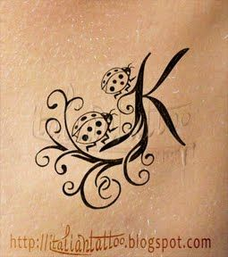 Go for it Katie!  This is SO you!!    #ladybug #K #tattoo