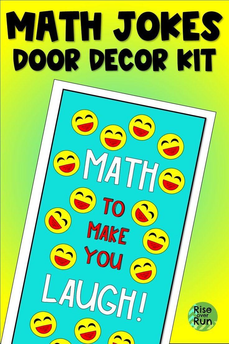 Math Jokes Door Decoration or Bulletin Board Math jokes