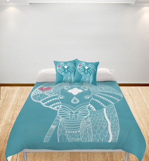 Elephant Duvet Cover Personalized  Full size/ King / by Narais