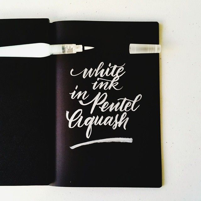 Last night I was thinking if there's a good white brush pen out there. I have searched the internet and I found that Posca brand has one but unfortunately I don't know any Philippine supplier who carries that though I haven't checked with our local bookstores if they have it.  So I searched in my stash of goodies and I found a Pentel Aquash that I'm not using then I thought of why not fill it up with white ink! I used Dr. Ph. Martin's Pen white and this is the ...