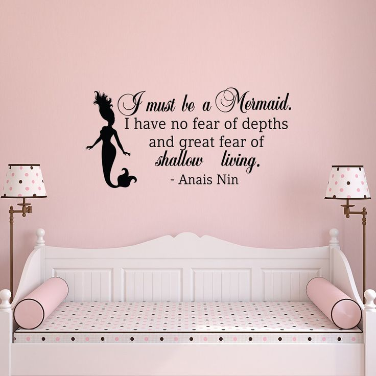 Wall Decal Quote I Must Be A Mermaid  Little Mermaid Wall Decal   Wall Decal Part 33