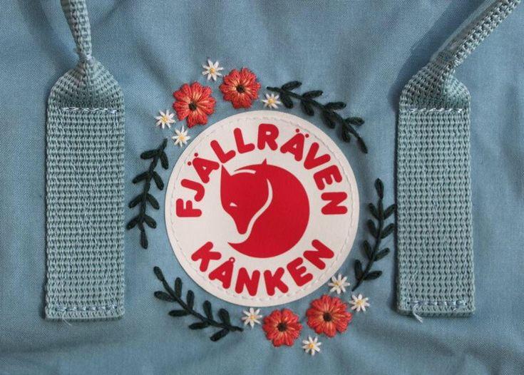 Embroidered Fjällräven Kanken Backpack