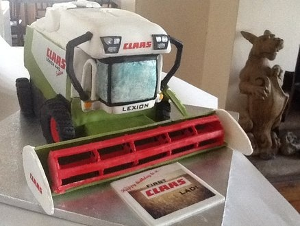 "Combine Harvester- Happy Birthday to a first ""CLAAS"" lad! Cake by femmebrulee"