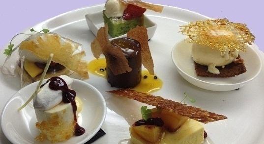 Dessert Tasting Plate at Ezard