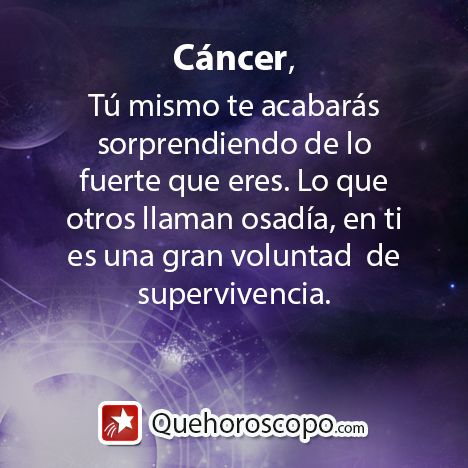 #Horoscopo #Cancer #Amor #Trabajo #Astros #Predicciones #Futuro #Horoscope #Astrology #Love #Jobs #Astrology #Future   http://www.quehoroscopo.com/horoscopodehoy/cancer.html
