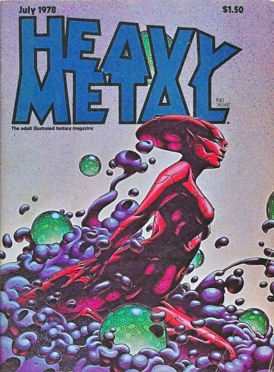 Front cover of Heavy Metal magazine July 1978 by Caza