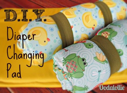 D.I.Y. Diaper Changing Pad Tutorial on how to make your own diaper changing pad. Soft and cushy, rolls up to go in your diaper bag. Made from cloth diaper material.