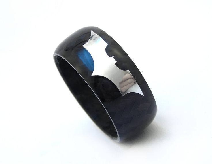 Carbon Fiber Batman The Dark Knight Rises Ring by Rosler on Etsy, $110.00