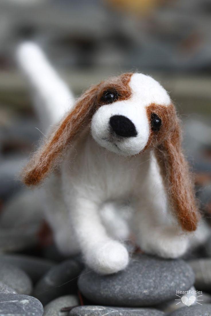 Needle felt Cavalier King Charles Spaniel dog HeartFelties