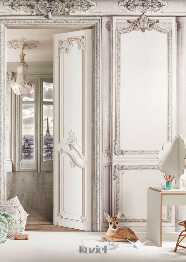 french trompe l 39 oeil wall decor by koziel haussmann inspiration pinterest papier peint. Black Bedroom Furniture Sets. Home Design Ideas