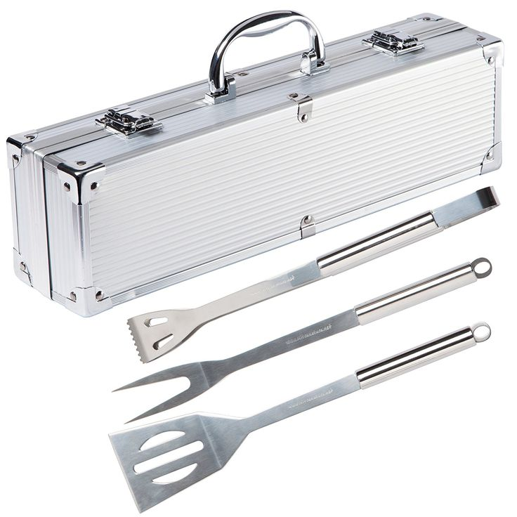 Ultranatura Stainless Steel Grill Tool Set - 3-Piece Set in Aluminium Case -- You can get additional details at the image link. #BarbecueandOutdoorDining