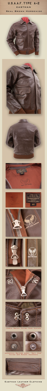 Eastman Leather Clothing - US Flight Jackets : USAAF Eastman Leather Jackets : A-2shh