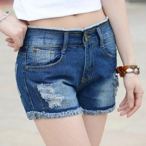 2016 New Hollow Out Ripped Women's Jeans Shorts Summer Style Sexy Hole – Gifts…