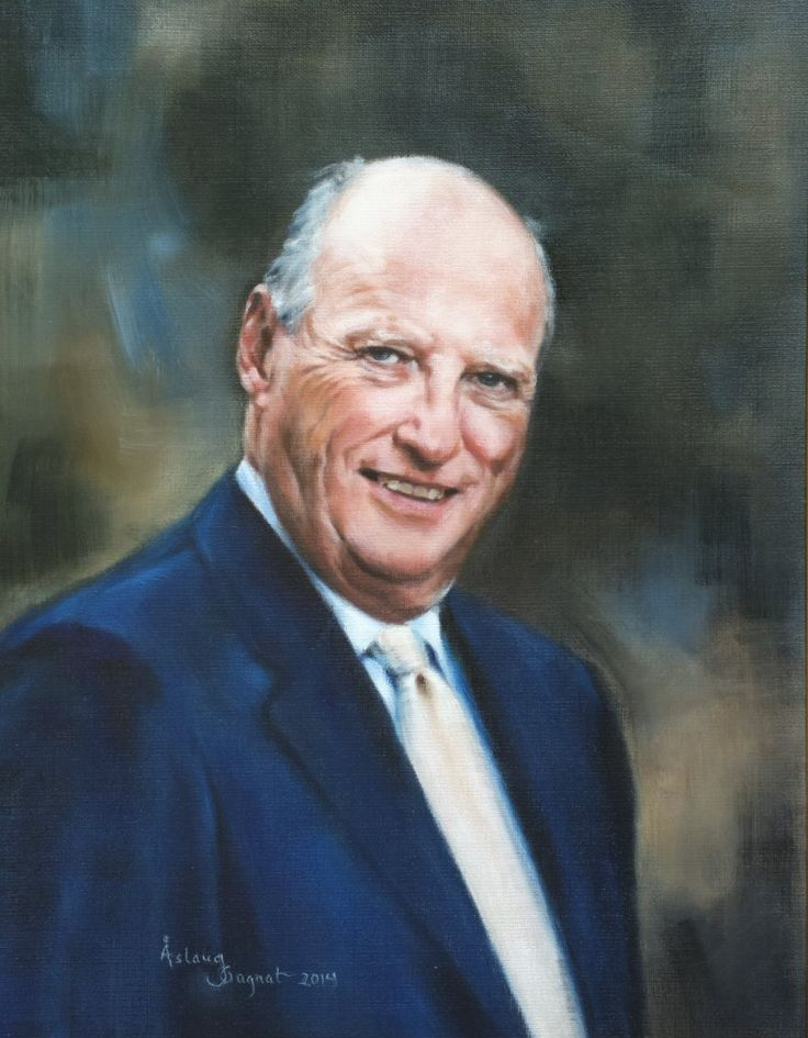 Harald, King of Norway,    oil on linen
