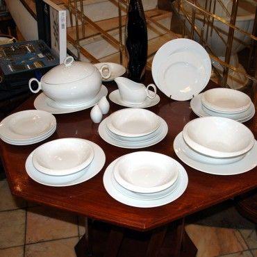 Jídelní souprava pro 6 osob, Future bílý, Thun 1794, karlovarský porcelán, FUTURE