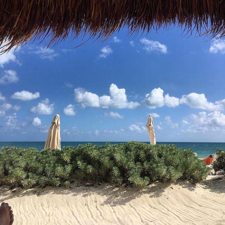 Spend your day under the cabana by the ocean at #SecretsPlayaMujeres / Pasa el día junto al mar  #repost  @alctjc98 #UnimitedVacationClub #SecretsResorts #stunningview #photooftheday #beachthursday #beachday #couplesvacation #relax #ocean