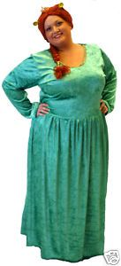 Shrek Princess Fiona Fancy Dress Costume ALL Plus Sizes | eBay