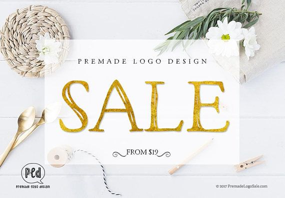 Premade Logo Design SALE Pre-made Logo Design Watercolor Logo