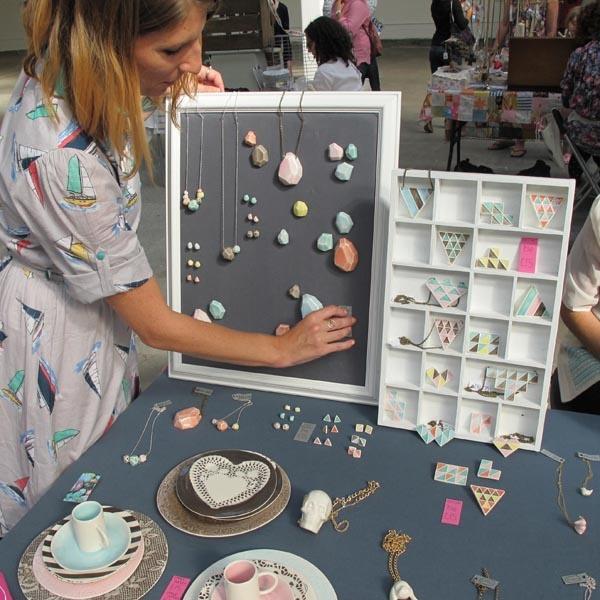 DIY chalboard magnet display at Renegade Craft Fair