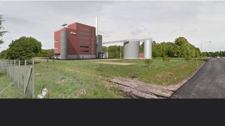 Ny hetvattencentral för Eon på kiselgatan, Ingelsta. Färdigt ca 2021.