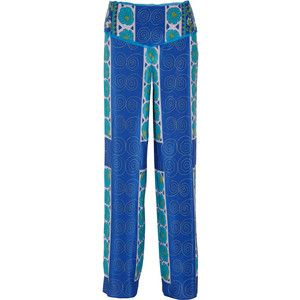 Anna Sui Printed silk crepe de chine pants