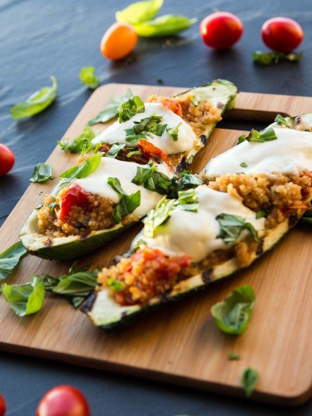 caprese quinoa grilled zucchini boats grilled zucchini boats veggie ...