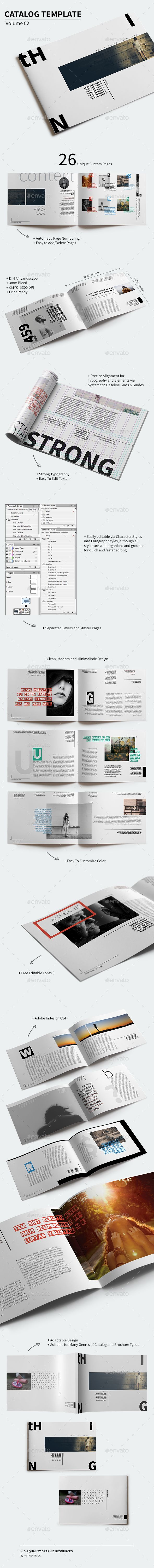 Catalog Template  Volume 02 — InDesign INDD #indesign #simple • Available here → https://graphicriver.net/item/catalog-template-volume-02/13114873?ref=pxcr