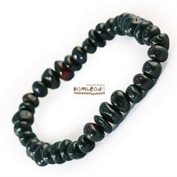 This may be an alternative to help with general aches and pains, eczema and arthritis. This Dark Cherry 18cm Bambeado bracelet is made from rounded bud amber beads that have been smoothed so that there are no sharp edges. The bracelet is approx 18 cm in length and is threaded onto elastic to stretch over your wrist.While Bambeado amber comes in several colours, the colour is just a matter of personal choice.