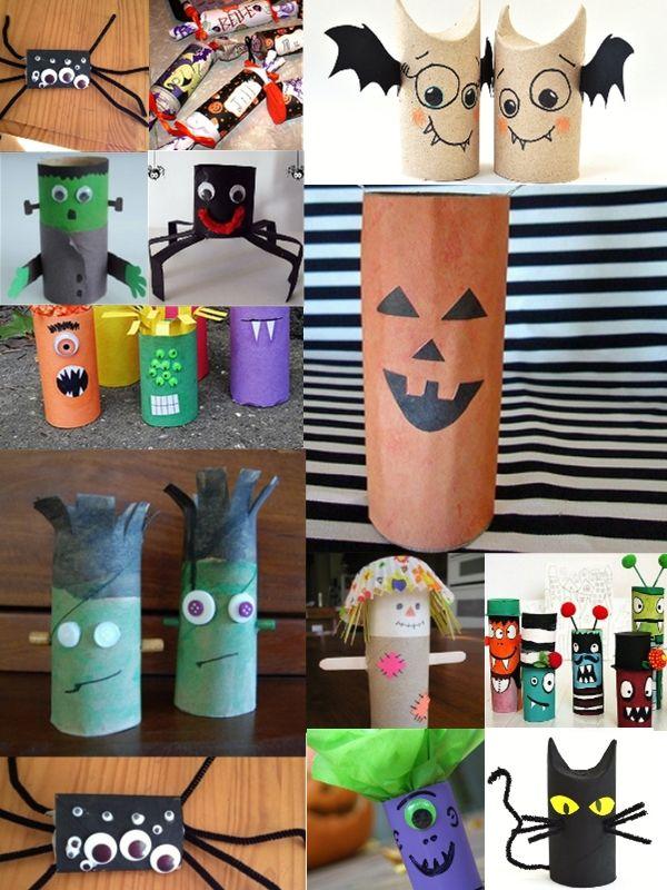 Des idées simples pour créer des personnages d'Halloween avec des rouleaux de papier toilette