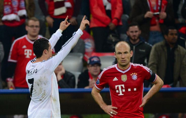 In your face Robben---This picture says all you need to know about the Real Madrid-Bayern Munich semifinal ...