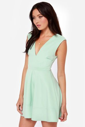 Love is in the Flare Light Blue Skater Dress | Lulu's