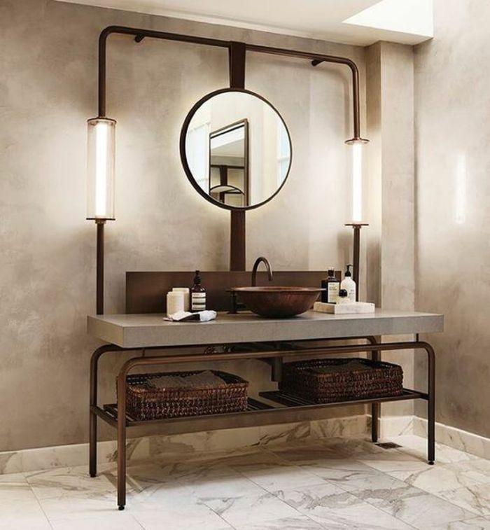 les 25 meilleures id es concernant salle de bains de cuivre sur pinterest accessoires de salle. Black Bedroom Furniture Sets. Home Design Ideas