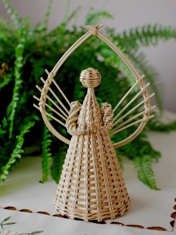 Lovely Angel Wicker Weaved by Foxtrade on Etsy