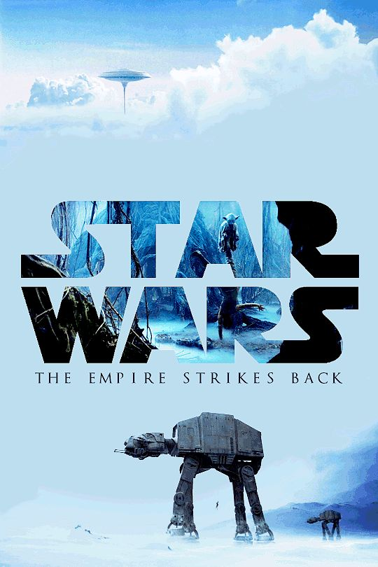 Star Wars Empire Strikes Back animated poster