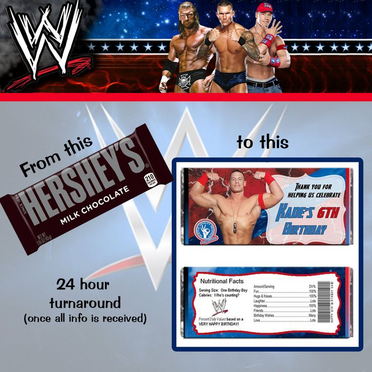 BLACK FRIDAY 15% Off WWE Wrestling Cena Hershey Wrapper File by TotheTCreations on Etsy