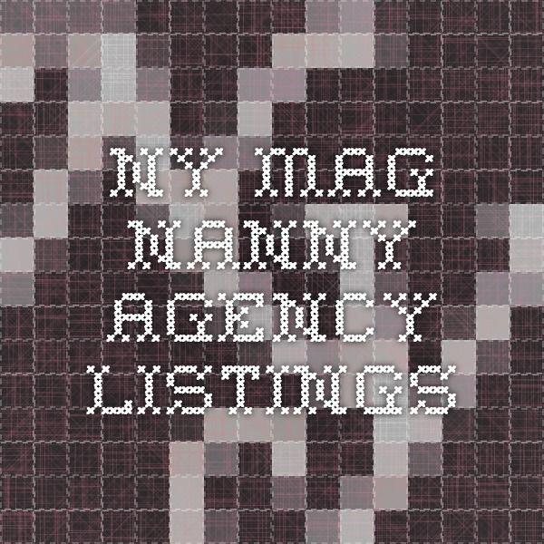 ny Mag Nanny agency listings
