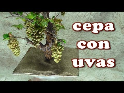 DIY VIÑA, CEPA DE UVAS PARA EL BELEN - HOW TO MAKE A BUNCH OF GRAPES FOR BELÉN - YouTube
