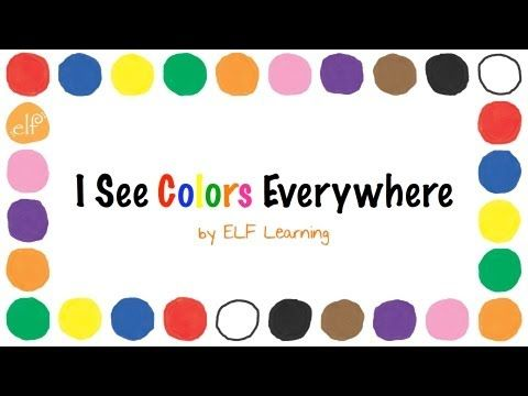Play through Iphone Speakers- Hold up Colors at circle as they are sung... Have students follow teacher model hand movements to go along with the music