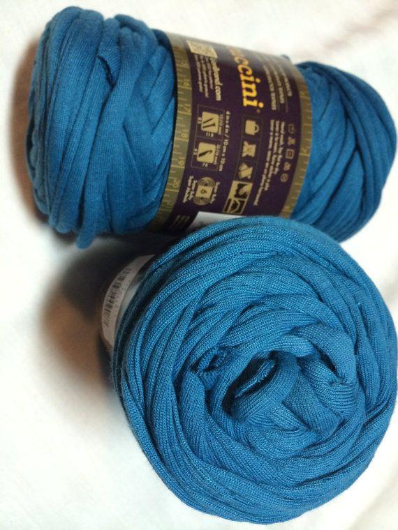 Lion Brand Fettuccini Yarn Super Bulky Repurposed Fabric