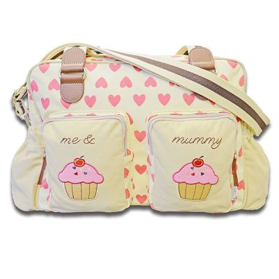 Cuddles Collection Me and Mummy Hearty Changing Bag (Pink)