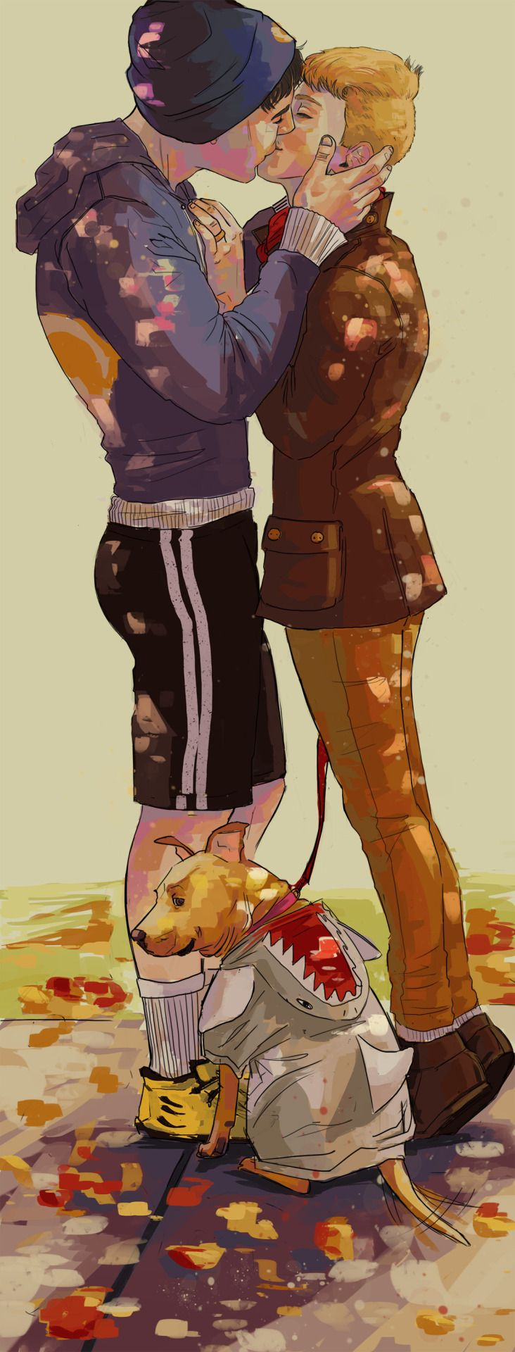 """pawspaintsnthings: """" So one of my headcanons is that one day Jack will realize he's been pining for Bitty, and so to soothe his sad-feels he adopts a little dog. He names her Puck. No that's not a Shakespeare reference, that's a hockey reference. She..."""