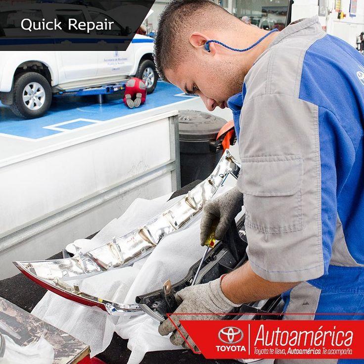 Para retoques o golpes leves, usa nuestro servicio #QuickRepair, un procedimiento que no te tomará mucho tiempo. Recuerda que el daño debe ser máximo dos piezas del vehículo. ¡Te esperamos! https://goo.gl/Lt0UBu