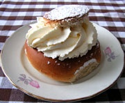 Semlor (Semla) recipe: a Swedish pastry , sweet but not too sweet. Dane and I had these at least once a day when we visited Sweden.