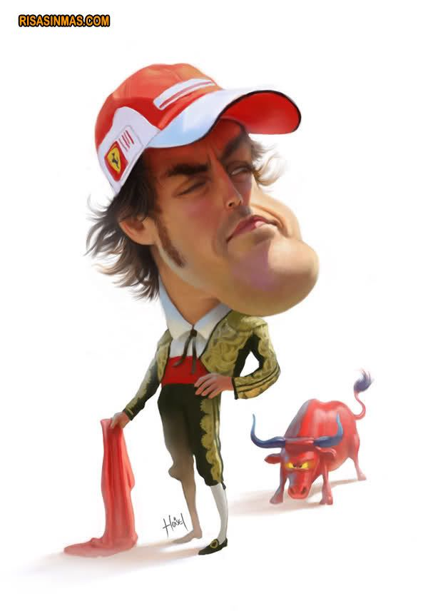 Caricatura de Fernando Alonso  http://bit.ly/IrXoV8
