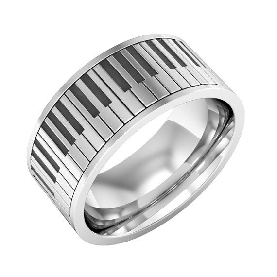 Piano ring Sterling silver Piano Band Ring Music Ring Instrument Piano Ring, christmas gift