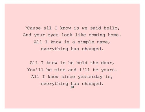 Everything Has Changed - Taylor Swift ft. Ed Sheeran