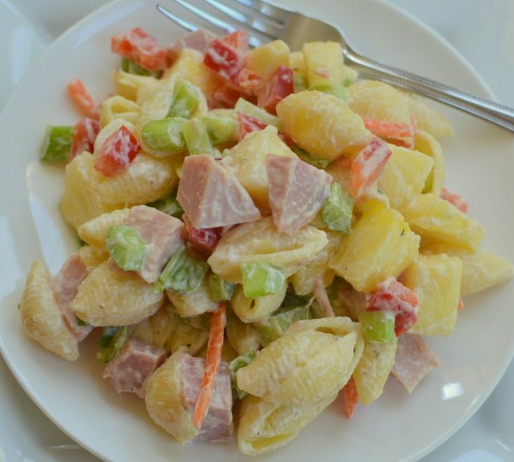 Easy Sweet Hawaiian Pasta Salad Small Town Woman